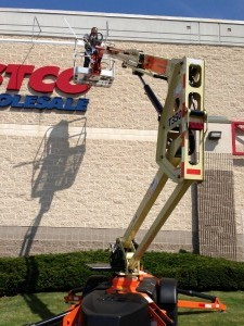 Commercial Outdoor Lighting Boom Lift