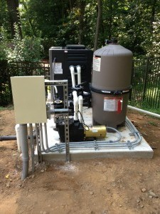 Residential Pool Pump Filter and Heater