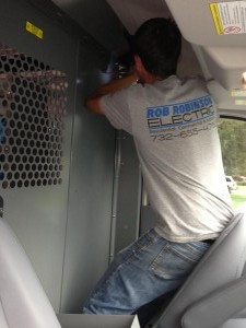 Loading the Rob Robinson Electric Van
